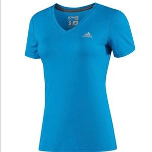 ADIDAS WOMEN'S CLIMA COOL V NECK TEE.SIZE L